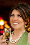 Woman at cocktail party Royalty Free Stock Photo