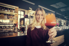 Woman with coctail Stock Photos