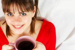 Woman with cofee Stock Photos