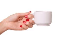 Woman and a cofee mug. Royalty Free Stock Photos