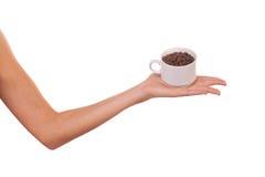 Woman and a cofee mug. Stock Photography