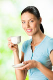 Woman with coffee Royalty Free Stock Photo