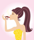Woman and coffee Royalty Free Stock Images