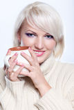 Woman with coffee Royalty Free Stock Image