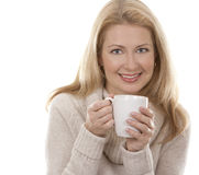 Woman with coffee Royalty Free Stock Photography