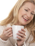 Woman with coffee Stock Photography
