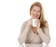 Woman with coffee Royalty Free Stock Photos