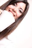 Woman with Coffee Stock Images