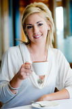 Woman And Coffee Royalty Free Stock Photo