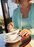 Woman and coffee Royalty Free Stock Photos