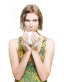 Woman On Coffee Break Stock Images