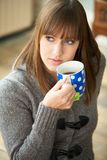 Woman on a Coffee Break Royalty Free Stock Image