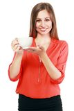 Woman coffee cup royalty free stock images