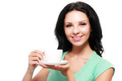 Woman coffee cup royalty free stock photo