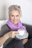 Woman and coffee Stock Photography