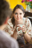 Woman With Coffee Mug Royalty Free Stock Photos