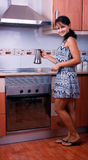 The woman with coffee Royalty Free Stock Photo