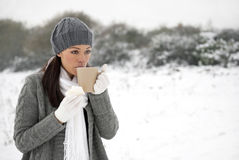 Woman with cold & flu royalty free stock photo