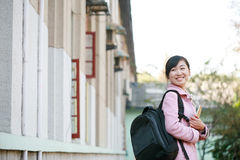 Woman at college Stock Photo