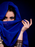 woman in color arabian clothes Royalty Free Stock Photo