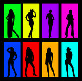 Woman color  background. Vector image of woman figure Stock Image
