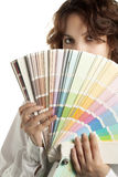 Woman with Color Swatch Royalty Free Stock Photo