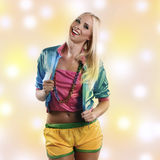 Woman in colorful dance outfit Royalty Free Stock Photo