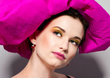 Woman with colorful makeup Royalty Free Stock Photography