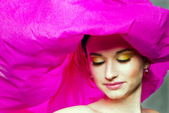 Woman with colorful makeup Royalty Free Stock Photos