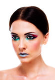 Woman with colorful makeup Stock Photo
