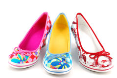 Woman colorful shoes Royalty Free Stock Images