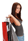 Woman with colorful shopping bags Royalty Free Stock Images
