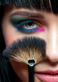 Woman with colorful stylish make-up Royalty Free Stock Images