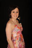 Woman in colorful sundress Royalty Free Stock Photos