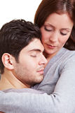 Woman comforting man Royalty Free Stock Images