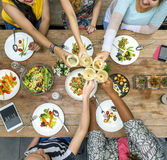 Woman Communication Dinner Together Concept Stock Photos