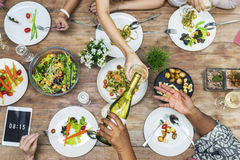 Woman Communication Dinner Together Concept Royalty Free Stock Photo