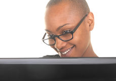 Woman at the computer Stock Photography