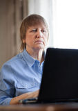 Woman with computer Stock Photos