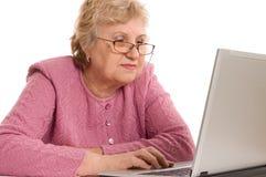 Woman at the computer Stock Photos