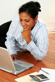 Woman On Computer Stock Images
