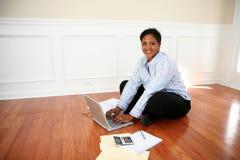 Woman On Computer Stock Photos