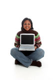 Woman on Computer Royalty Free Stock Image