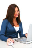 Woman Computer User Royalty Free Stock Photos