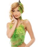 Woman in conceptual spring costume Stock Image