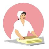 Woman confectioner Royalty Free Stock Photos