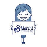 Woman congratulates March 8 Stock Image