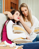 Woman consoling the depressed girl Royalty Free Stock Photography