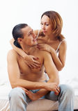 Woman consoling the  husband Stock Image