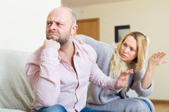Woman consoling sad men Stock Photography